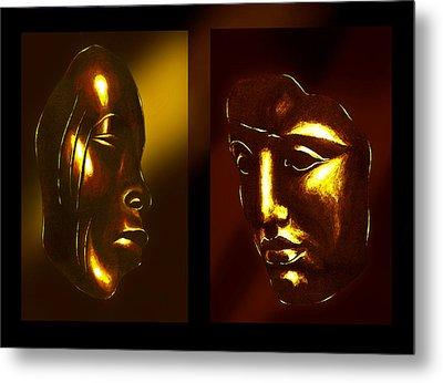 Gold Masks Metal Print by Hartmut Jager