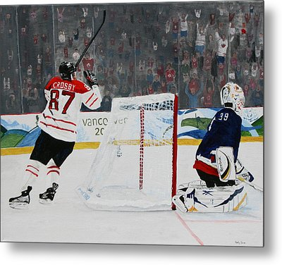 Gold Medal Goal Metal Print by Betty-Anne McDonald