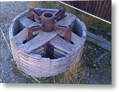 Metal Print featuring the photograph Gold Mine Pulley by Fortunate Findings Shirley Dickerson
