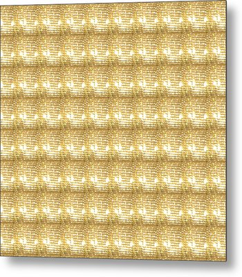 Metal Print featuring the photograph Gold Sparkle Tone Pattern Unique Graphics by Navin Joshi