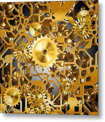 Gold Time.  Metal Print by Tautvydas Davainis