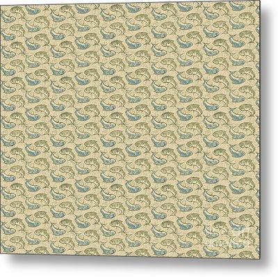Gold Ying Yang Fish Douvet Pillow Design Metal Print by Joe Low