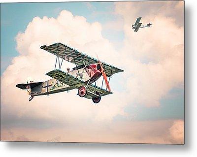 Golden Age Of Aviation - Fokker D. 7 - World War I Metal Print by Gary Heller
