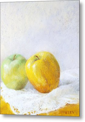 Golden Apple Metal Print