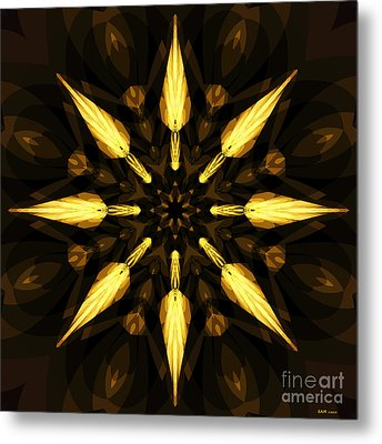 Golden Arrows Metal Print