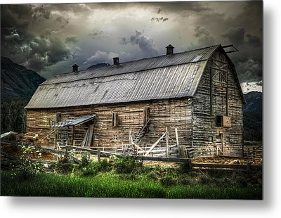 Golden Barn Metal Print by Wayne Sherriff