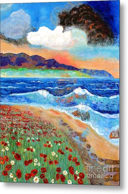 Golden Beach 1 Metal Print by Vicky Tarcau