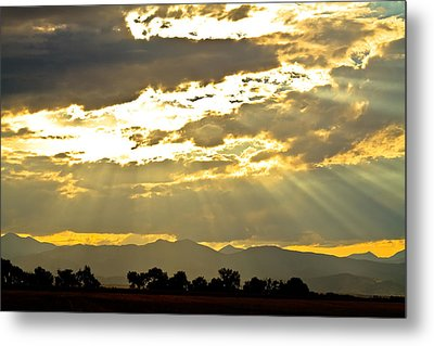 Golden Beams Of Sunlight Shining Down Metal Print by James BO  Insogna