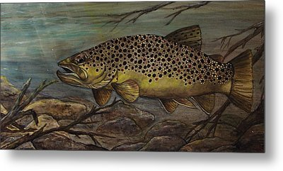 Golden Brown Metal Print by Kathy Lovelace