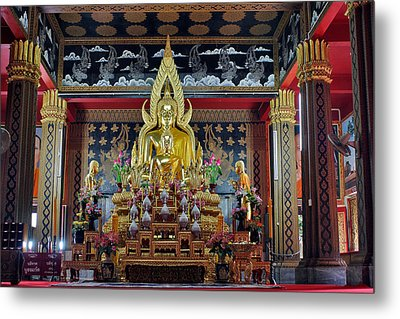 Golden Buddha Metal Print by Adam Romanowicz