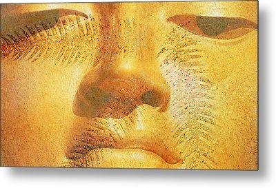 Golden Buddha - Art By Sharon Cummings Metal Print by Sharon Cummings