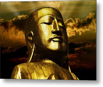 Golden Buddha Metal Print by Joachim G Pinkawa