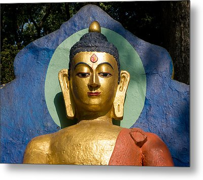 Golden Buddha Metal Print by Nila Newsom