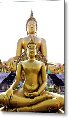 Golden Buddha Statue  Metal Print by Tosporn Preede