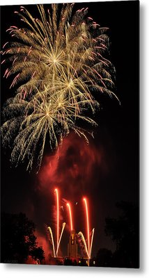 Metal Print featuring the photograph Golden Bursts And Ghostly Smoke by Kevin Munro