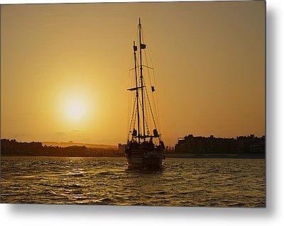 Golden Cabo Sunset Metal Print by Christine Till