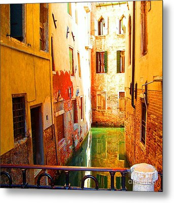 Golden Canal Metal Print