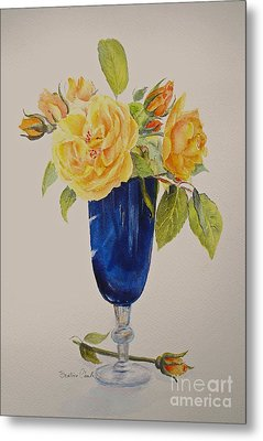 Metal Print featuring the painting Golden Celebration by Beatrice Cloake