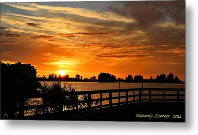 Golden Christmas Sunset Metal Print