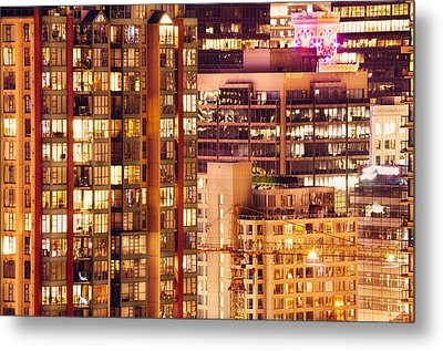 Metal Print featuring the photograph City Of Vancouver - Golden City Of Lights Cdlxxxvii by Amyn Nasser