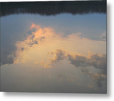 Golden Clouds On Water Metal Print by Jaime Neo