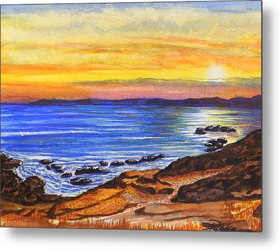 Golden Cove Metal Print by Darren Robinson