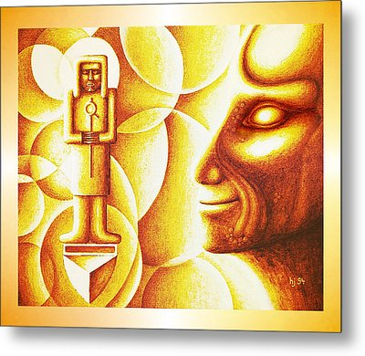 Golden Days Of  Atlantis Metal Print by Hartmut Jager