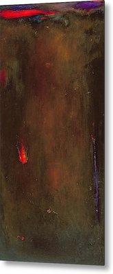 Golden Desert Oil On Canvas Metal Print by Jane Deakin