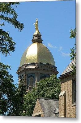 Golden Dome Notre Dame Metal Print by Connie Dye
