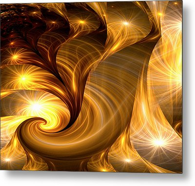 Golden Dreams I Metal Print