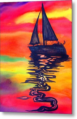 Metal Print featuring the painting Golden Dreams by Lil Taylor