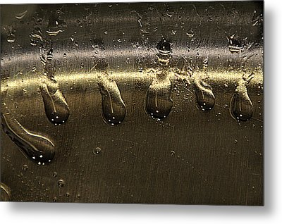 Metal Print featuring the photograph Golden Droplets by Geraldine Alexander