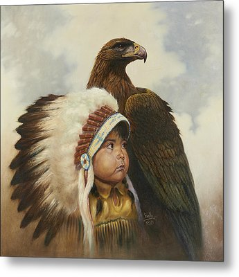 Golden Eagles Metal Print by Gregory Perillo