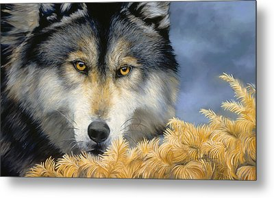 Golden Eyes Metal Print by Lucie Bilodeau