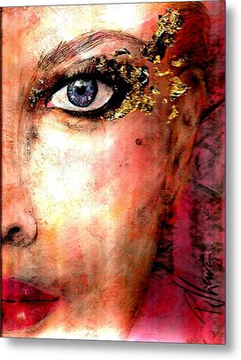 Golden Eyes Metal Print by P J Lewis