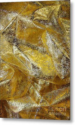 Golden Fabric Metal Print by Carlos Caetano