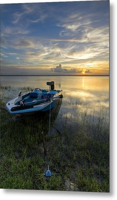 Golden Fishing Hour Metal Print by Debra and Dave Vanderlaan