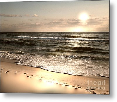 Golden Footprints Metal Print by Jeffery Fagan