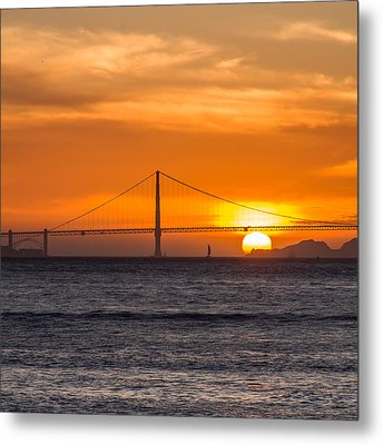 Golden Gate - Last Light Of Day Metal Print
