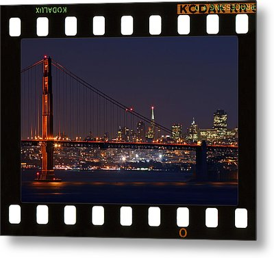 Metal Print featuring the photograph Golden Gate 35mm Frame by Christopher McKenzie