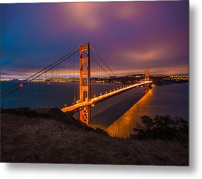 Golden Gate At Twilight Metal Print