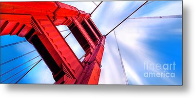 Golden Gate Boom Metal Print