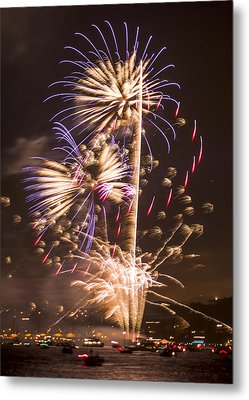 Golden Gate Bridge 75th Anniversary Fireworks 10 Metal Print