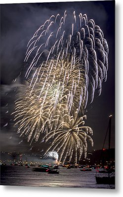 Golden Gate Bridge 75th Anniversary Fireworks 15 Metal Print