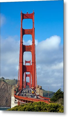 Golden Gate Bridge Metal Print by Adam Romanowicz