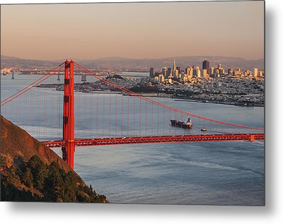 Metal Print featuring the photograph Golden Gate Bridge And San Francisco 1 by Lee Kirchhevel