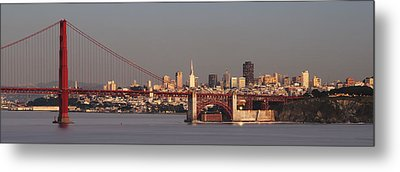 Metal Print featuring the photograph Golden Gate Bridge And San Francisco Panoramic by Lee Kirchhevel