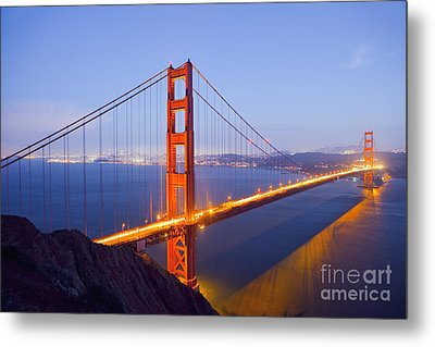 Golden Gate Bridge At Dusk Metal Print