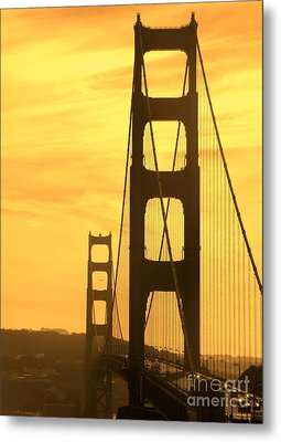 Metal Print featuring the photograph Golden Gate Bridge  by Clare Bevan