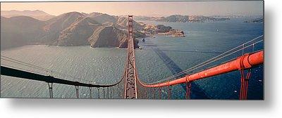 Golden Gate Bridge California Usa Metal Print by Panoramic Images